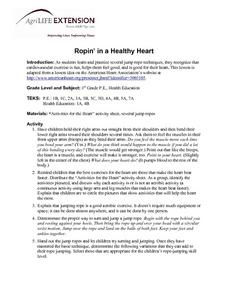 Ropin' in a Healthy Heart Lesson Plan