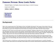 Rosa Louis Parks Lesson Plan