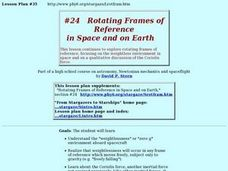 Rotating Frames of Reference Lesson Plan