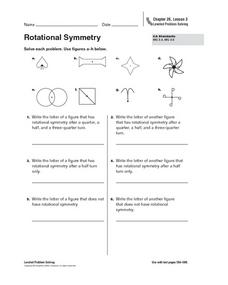 rotational symmetry 5th grade worksheet lesson planet. Black Bedroom Furniture Sets. Home Design Ideas