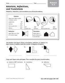 geometry worksheets translation rotation reflection transformation worksheets reflection. Black Bedroom Furniture Sets. Home Design Ideas