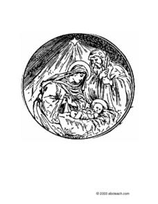 Round Nativity Scene Drawing Lesson Plan