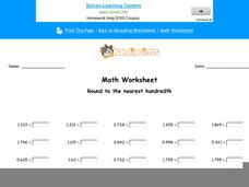 Round to the Nearest Hundredth Worksheet