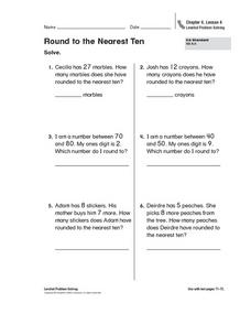 Round to the Nearest Ten Worksheet