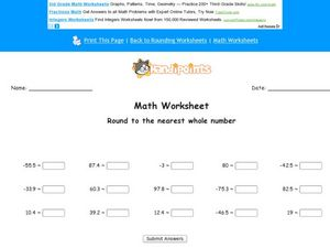 Round to the Nearest Whole Number Worksheet