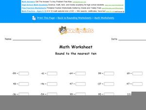 Rounding Negative and Positive Numbers Worksheet