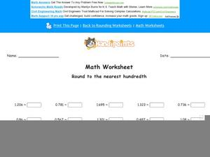 Rounding to     Rounding Decimals Worksheet