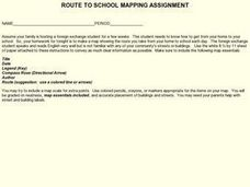 Route To School Mapping Assignment Lesson Plan