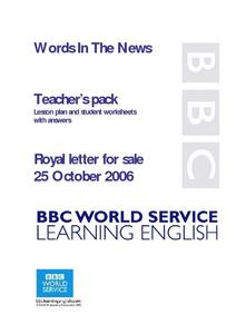 Royal Letter for Sale Lesson Plan
