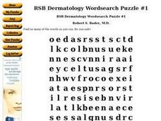 RSB Dermatology Wordsearch Puzzle #1 Worksheet