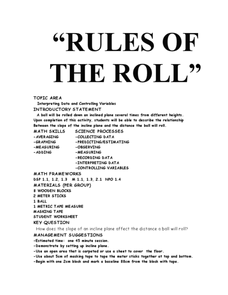 Rules of the Roll Lesson Plan