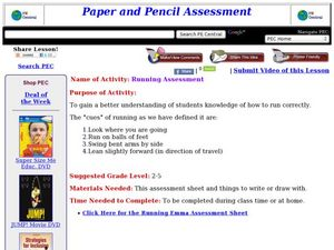 Running Assessment Lesson Plan