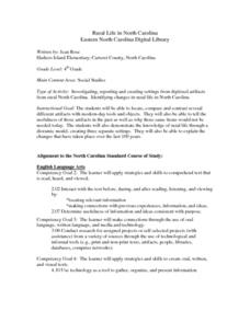 Rural Life in North Carolina Lesson Plan