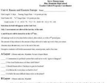 Russia and Eastern Europe Lesson Plan