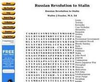 Russian Revolution to Stalin Worksheet