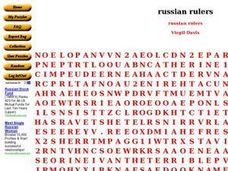 Russian Rulers Worksheet
