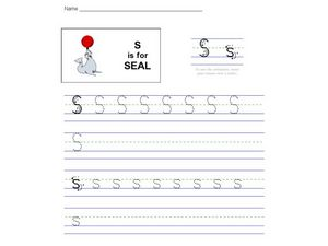 S is for Seal Worksheet