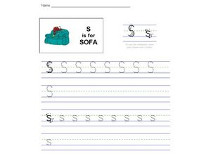 S Is For Sofa Worksheet