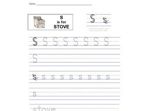 S Is For Stove Worksheet
