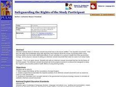 Safeguarding the Rights of the Study Participant Lesson Plan