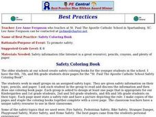 Safety Coloring Book Lesson Plan