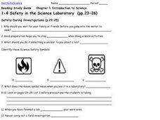 Safety in the Science Laboratory Worksheet