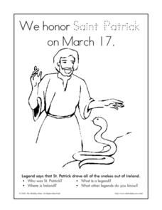 Saint Patrick Activity Worksheet