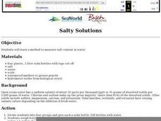 Salty Solutions Lesson Plan