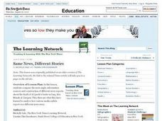 Same News, Different Stories Lesson Plan