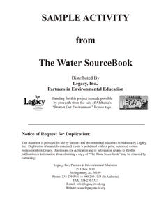 Sample Activity From The Water Sourcebook Lesson Plan