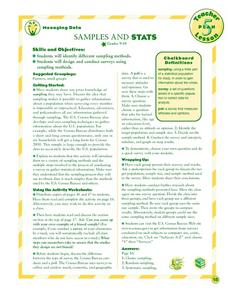 Samples and Stats Lesson Plan