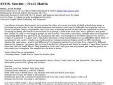 Sanctus--Frank Martin Lesson Plan