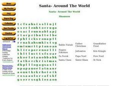 Santa- Around The World Worksheet
