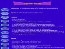 Sara Plain and Tall Lesson Plan