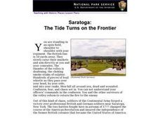 Saratoga: The Tide Turns on the Frontier Lesson Plan