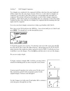 SAS Triangle Congruence Lesson Plan