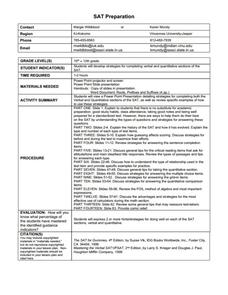 SAT Preparation Worksheet