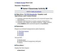 Sator Classroom Activity Lesson Plan