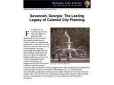 Savannah, Georgia: The Lasting Legacy of Colonial City Planning Lesson Plan