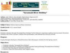 Savannah River Holiday Lesson Plan