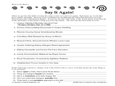Say It Again! Worksheet