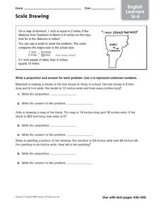 Scale Drawing: ELL Worksheet