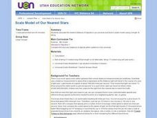 Scale Model of Our Nearest Stars Lesson Plan