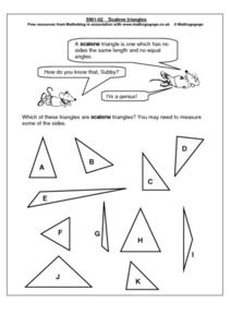 Scalene Triangles Worksheet