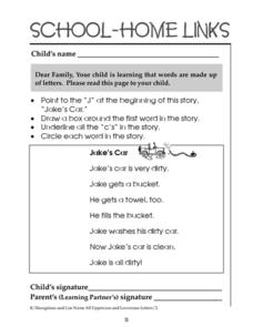 School-Home Links 13 Worksheet