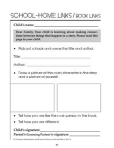 School Home Links/Book Links 88 Worksheet