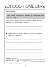 School-Home Links: Pre-Writing Worksheet