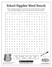 School Supplies Worksheet Worksheet