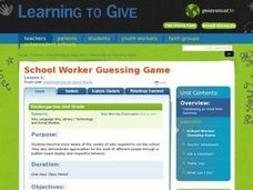 School Worker Guessing Game Lesson Plan