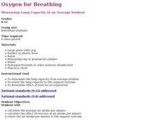 Science: Breathing in Space Lesson Plan